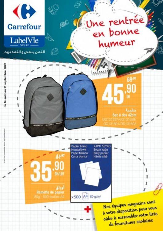 Catalogue Carrefour Septembre 2020 de la Rentrée Scolaire