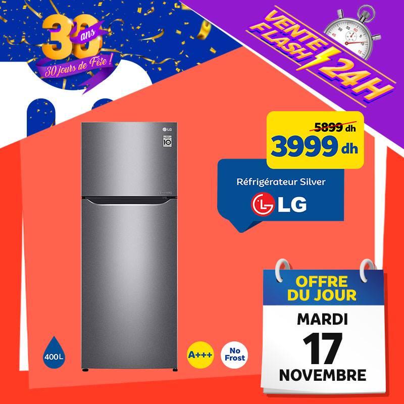 Marjane Réfrigérateur LG Silver en Vente Flash
