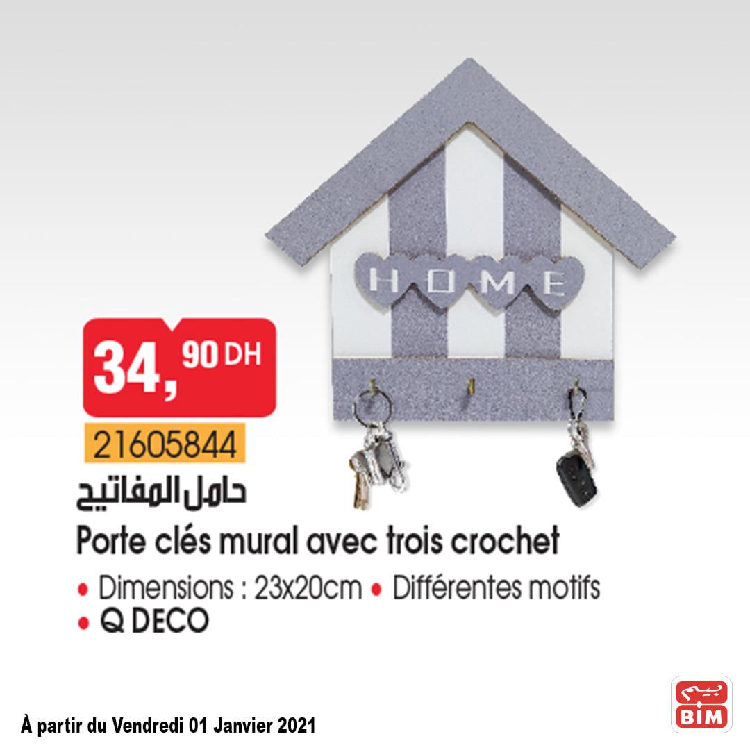 Porte Clé Mural en promotion chez BIM عروض بيم June 2021