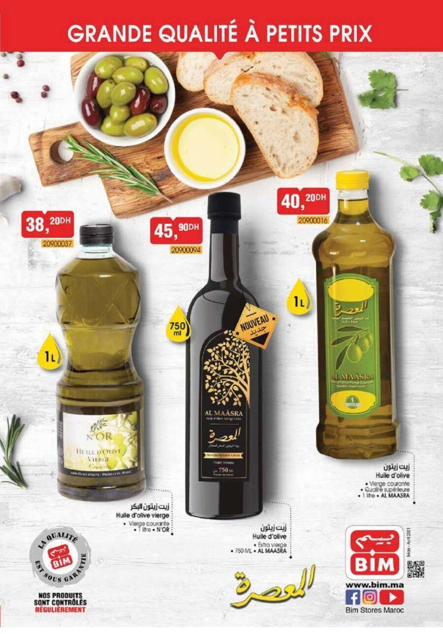 Flyer Bim Maroc Spécial Huiles d'olive vierge Edition Mars 2021