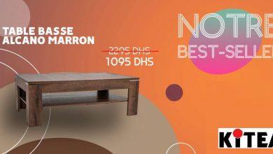 kitea catalogue : Best-Seller chez Kitea Table basse ALCANO marron 1095Dhs au lieu de 2295Dhs September 2021