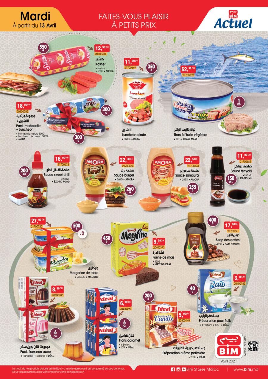 Catalogue Bim Maroc Produits Alimentaires à partir du Mardi 13 Avril 2021