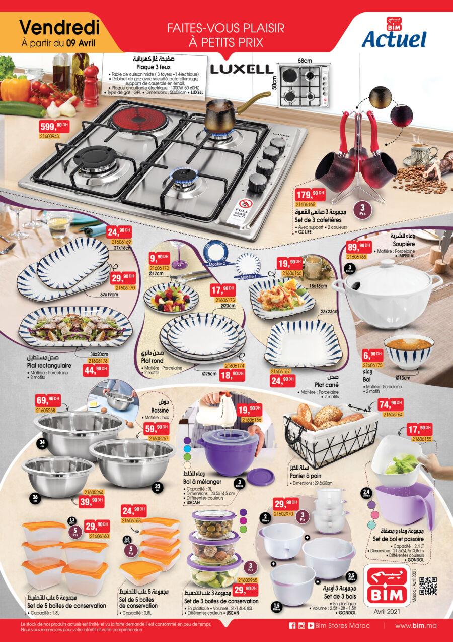 Catalogue Bim Maroc Spécial Cuisine à partir du Vendredi 9 Avril 2021