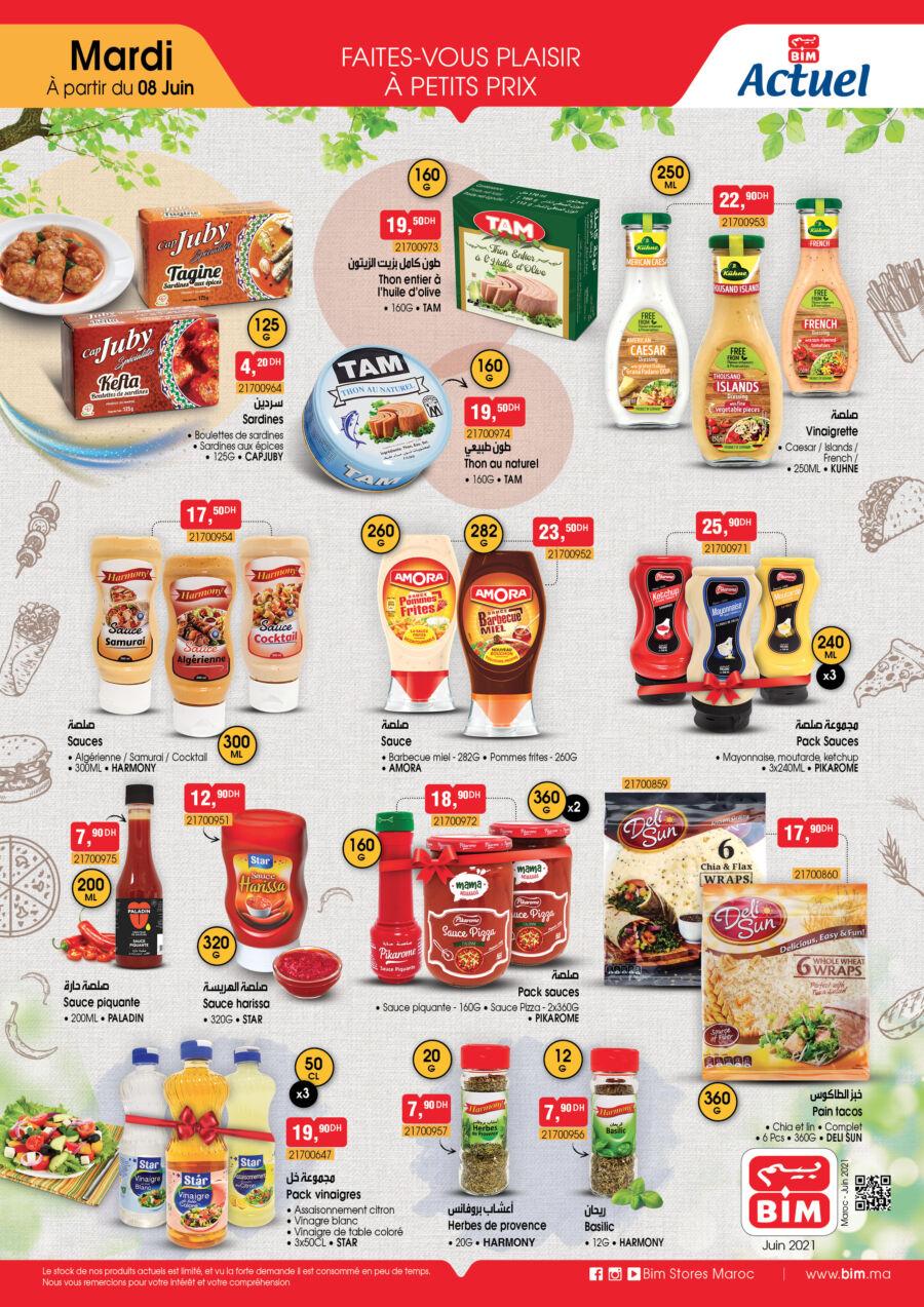 Catalogue Bim Maroc Spécial Alimentations à partir du Mardi 8 Juin 2021