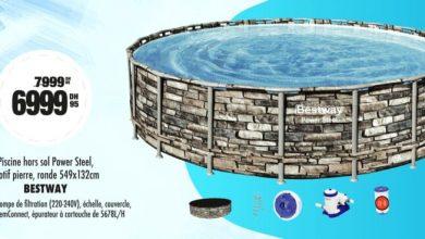 Soldes Aswak Assalam Piscine hors sol Power Steel BESTWAY 6999Dhs au lieu de 7999Dhs عروض اسواق السلام July 2021