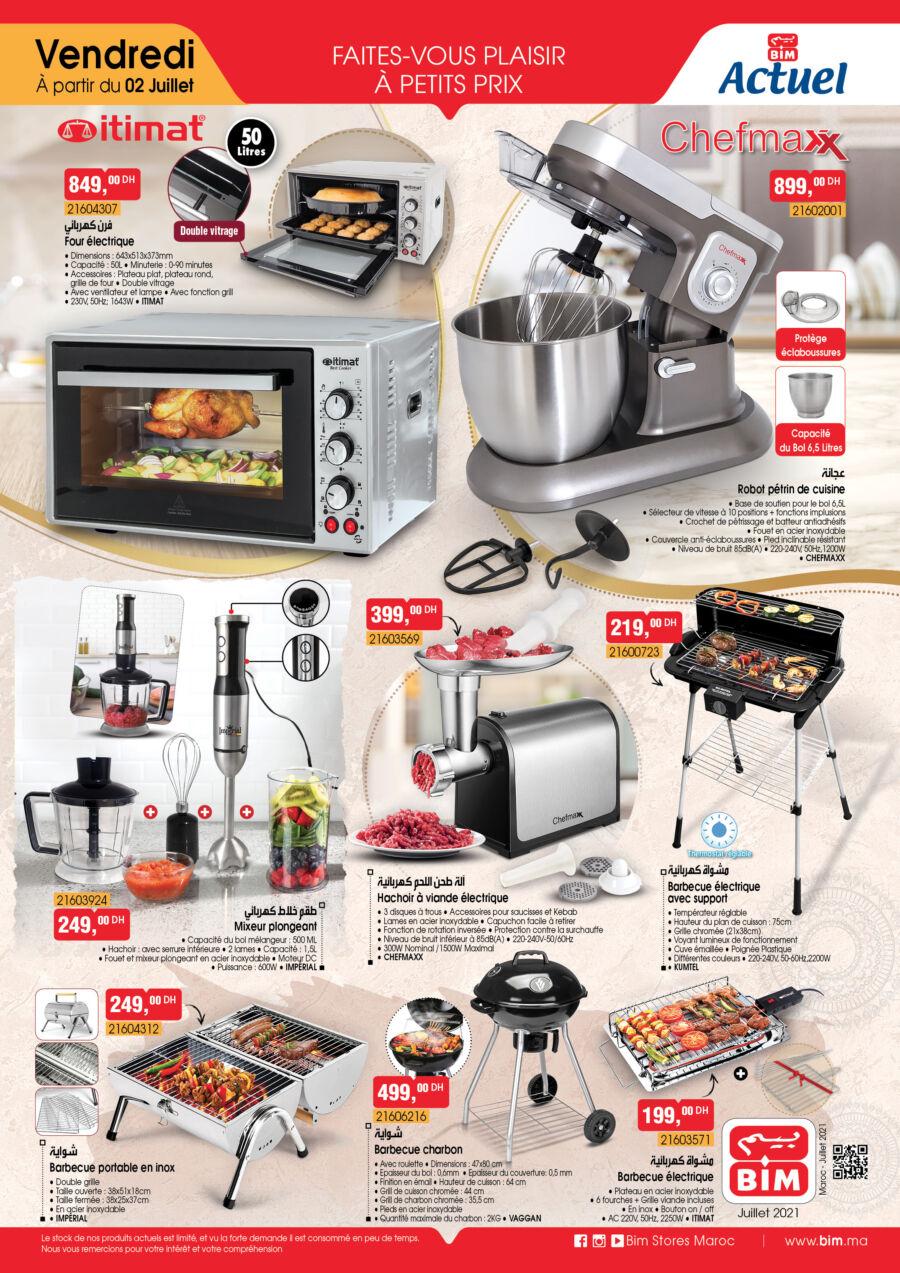 Catalogue Bim Maroc Spécial Cuisine et barbecue du Vendredi 2 Juillet 2021