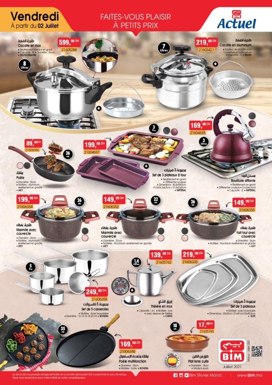 Catalogue Bim Maroc Spécial Cuisines du vendredi 2 juillet 2021