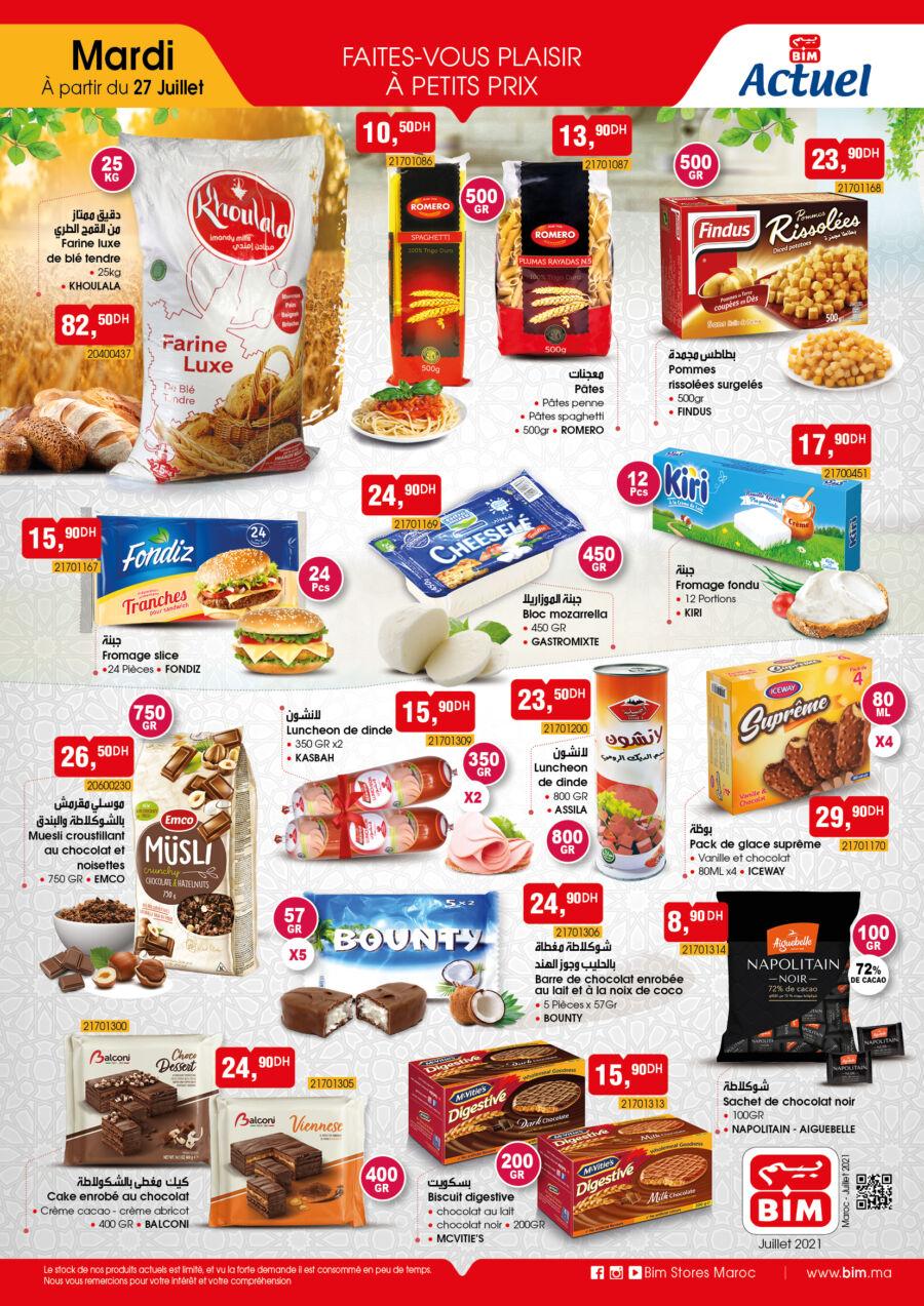 Catalogue Bim Maroc divers produits alimentaires du Vendredi 27 juillet 2021