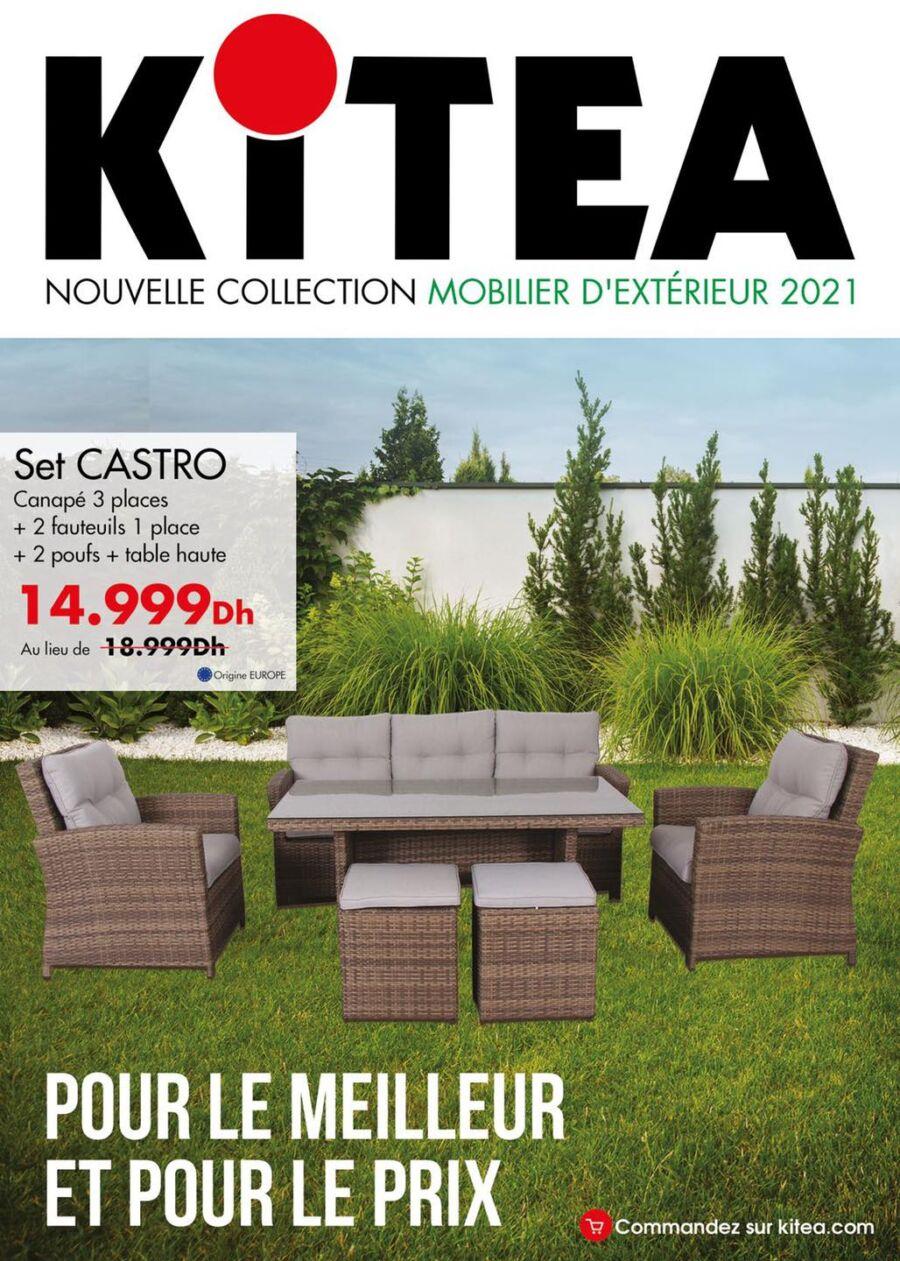 Catalogue Kitea Nouvelle collection Mobilier d'extérieur valable jusqu'au 31 août 2021