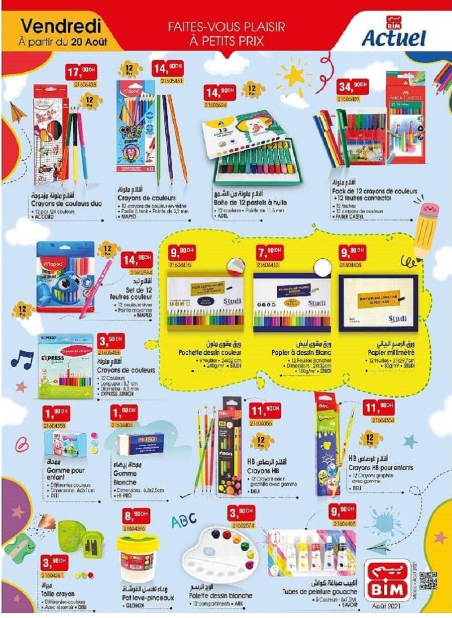 Catalogue Bim Maroc Back to School à partir du vendredi 20 août 2021