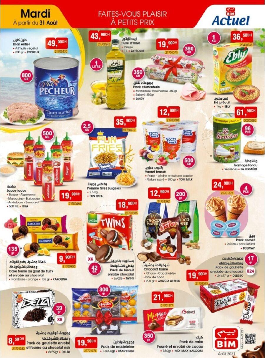Catalogue Bim Maroc Divers produits alimentaire du mardi 31 août 2021