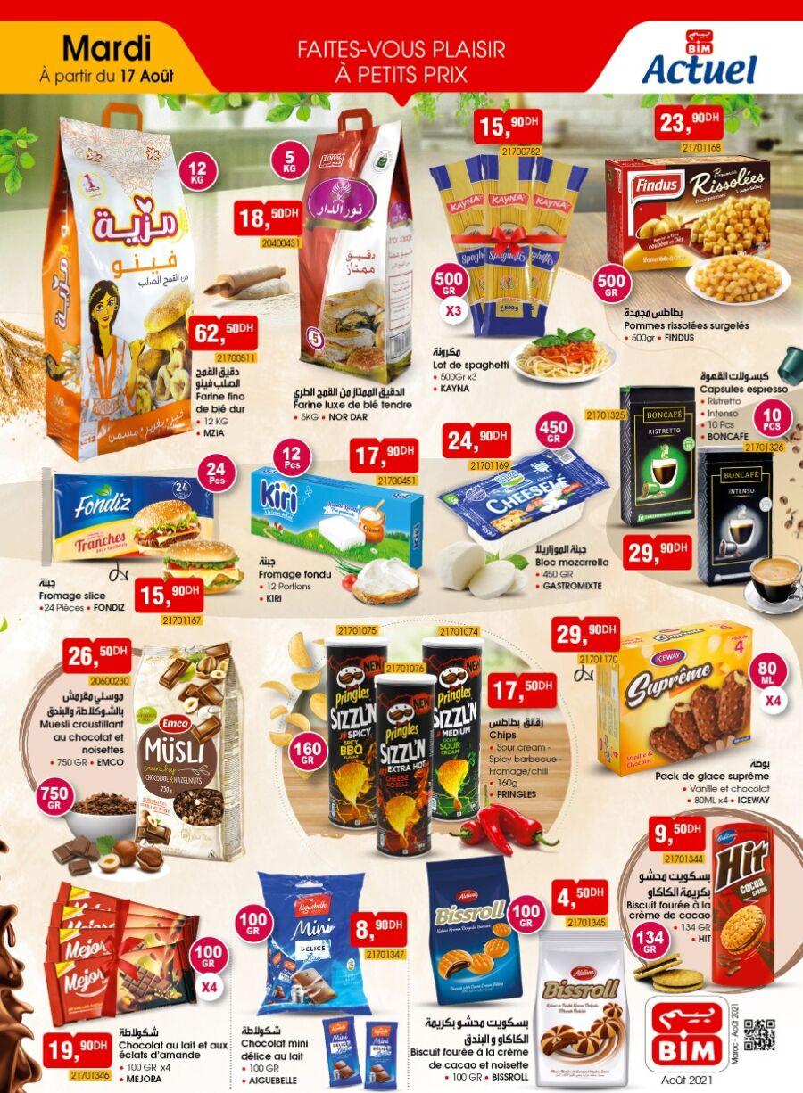 Catalogue Bim Maroc Produits Alimentaires du mardi 17 août 2021