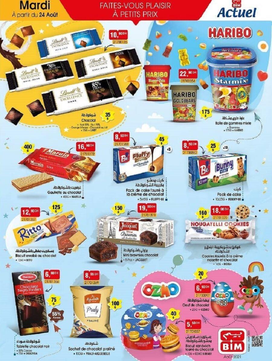 Catalogue Bim Maroc Spécial Bonbons et Chocolats à partir du Mardi 24 août 2021