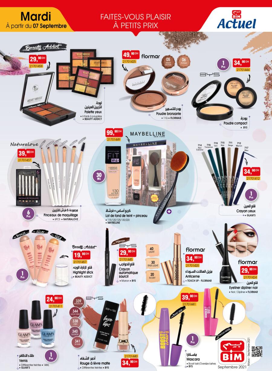 Catalogue Bim Maroc Spécial Maquillages femmes du Mardi 7 septembre 2021