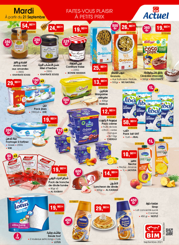 Catalogue Bim Maroc Divers produits alimentaires du mardi 21 septembre 2021