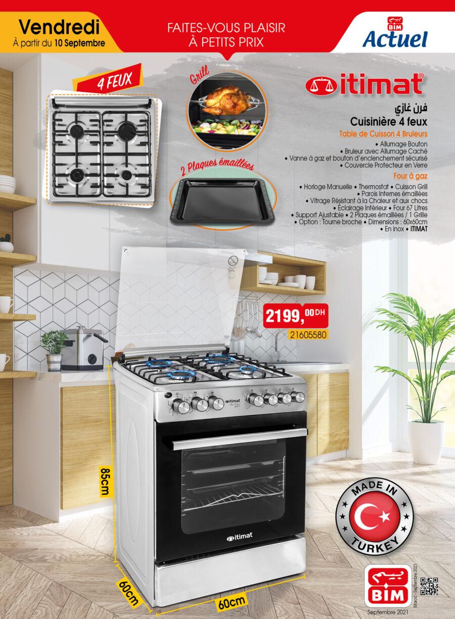 Catalogue Bim Maroc Spécial Cuisinière ITIMAT du Vendredi 10 septembre 2021